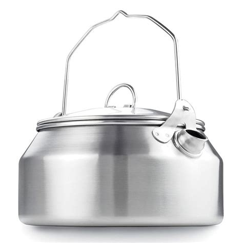 stainless kettle camping steel glacier gsi outdoors bushcraft mears ray kettl cooking raymears