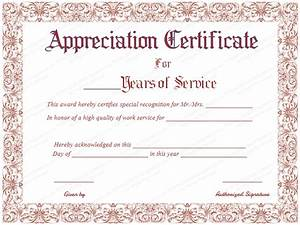 long service certificate template sample - take the time to download this years of service