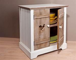 meuble 2 portes motif poule becquet With meuble 2 portes
