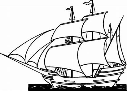Pirate Ship Coloring Pages Printable Ships Boats