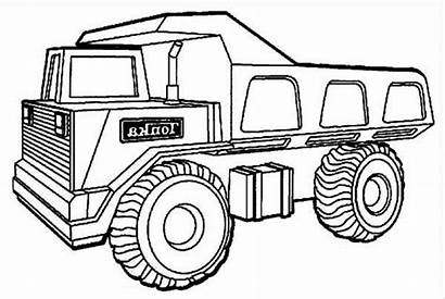 Coloring Truck Dump Pages Tonka Colouring Trucks