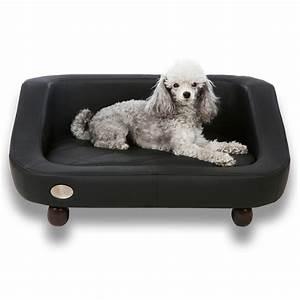 Canape noir moderne pour chien canape luxe pour chien for Tapis moderne avec canapé lit pour chien