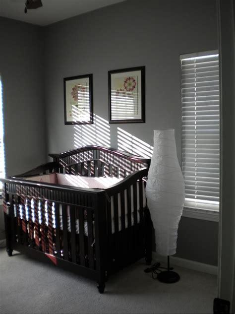 gray walls with crib baby things