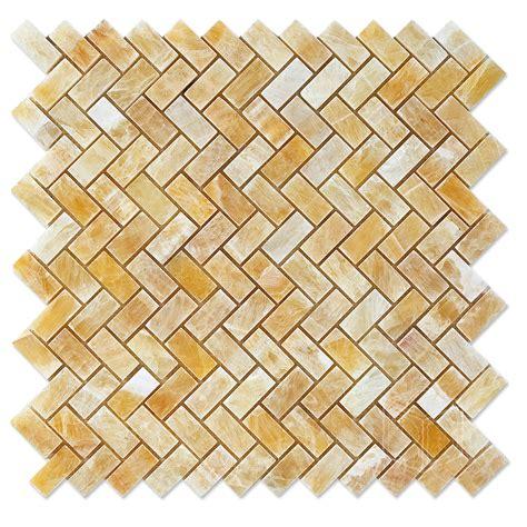 honey onyx marble mosaic herringbone polished wholesale