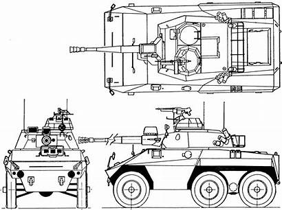 Cascavel Ee Military Blueprint Vehicles Drawing 3d