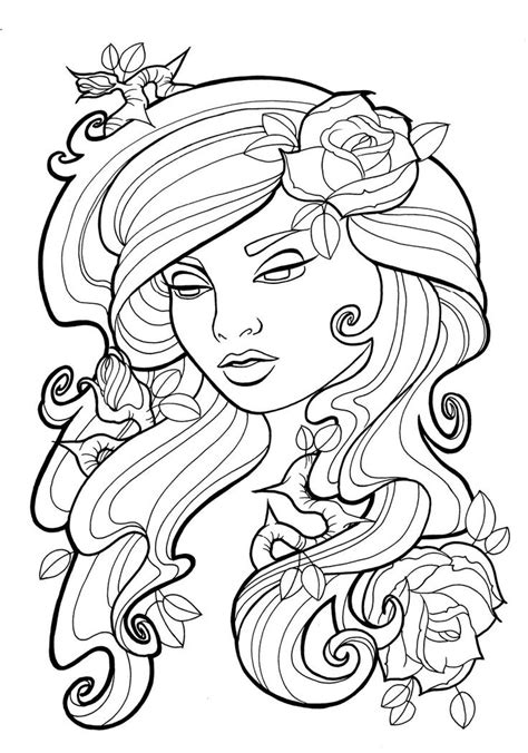 heart surrounded by ivy drawings for tattoo | Art Nouveau Coloring Pages - Coloring Pages