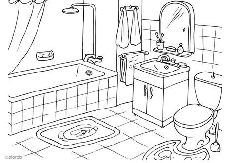 großes badezimmer malvorlage badezimmer ausmalbild 25994