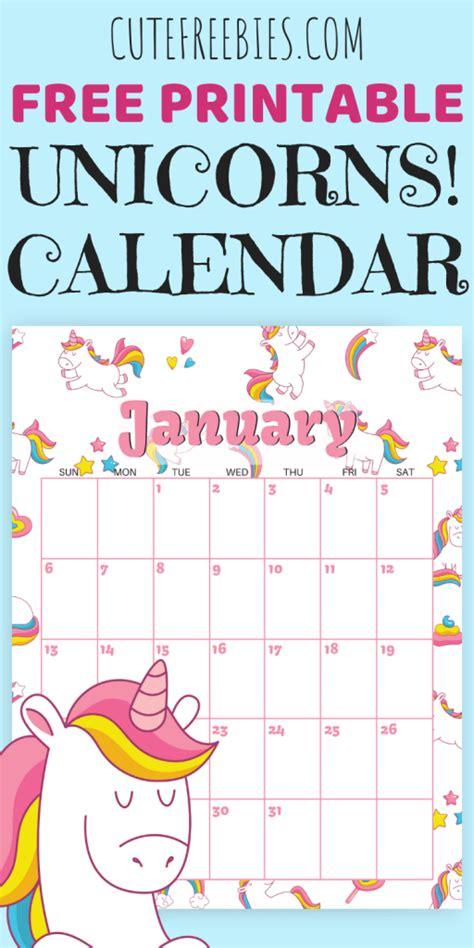 unicorn calendar shabby mint chic party