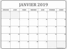 janvier 2019 calendrier imprimable calendrier gratuit
