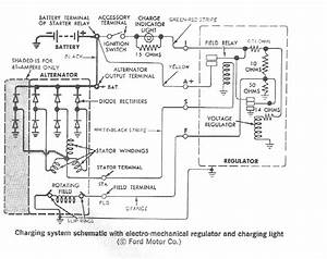 Alternator Wiring Diagram Is Scanned From A 1970 Buick