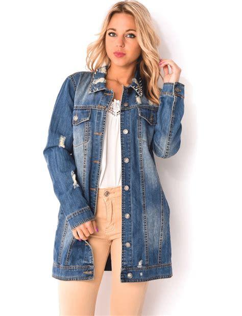 veste en jean troué veste en jean veste en jean femme