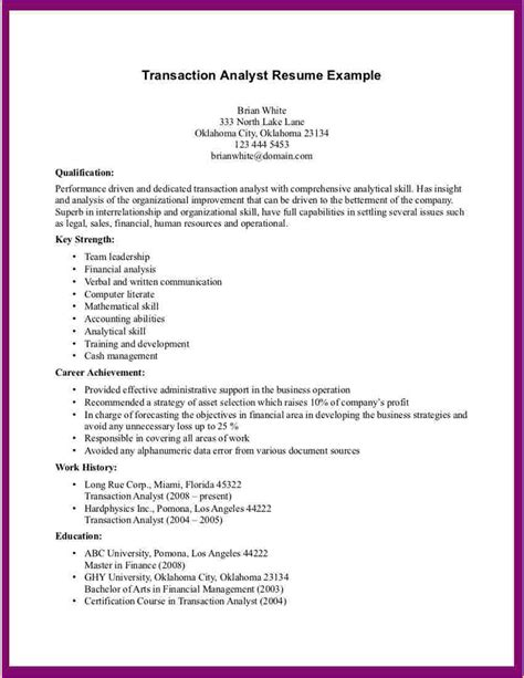 resume objectives for any position exles any resumes sles business templated business templated