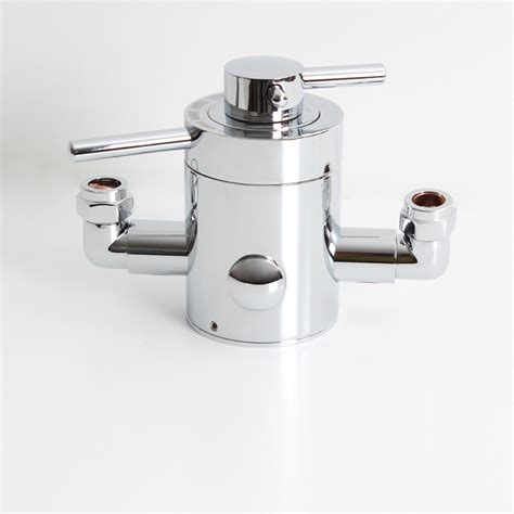chrome concentric thermostatic exposed mixer valve shower pipe thermostat ebay