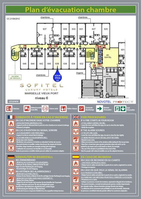 plan chambre hotel plan d évacuation plan d intervention protect marseille