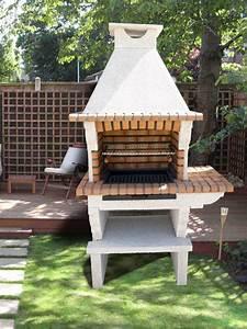 barbecue exterieur pierre et briques barbecue d With barbecue de jardin en pierre