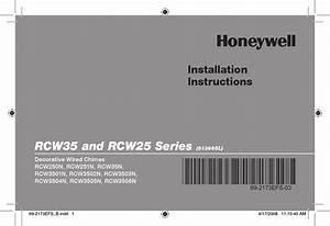 Honeywell Rcw25 Installation Instructions Manual Pdf
