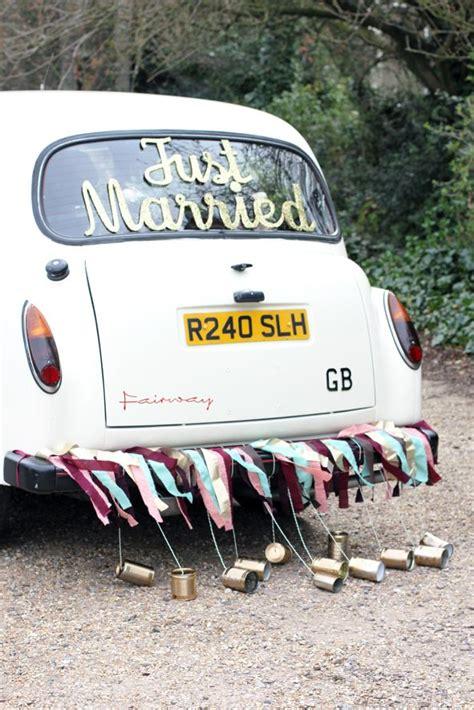 just married decorations for car classic wedding car getaway wedding car