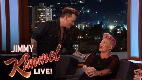 Pink Gets Flustered Meeting Johnny Depp