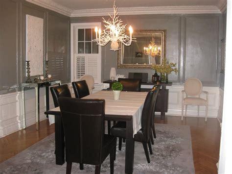 occupied gray dining room