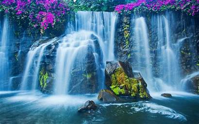 Waterfall 3d Android Animated Code Desktop Wallpapers