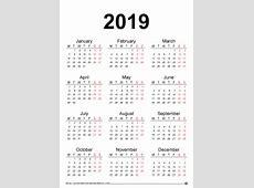 2019 calendar calendar yearly printable