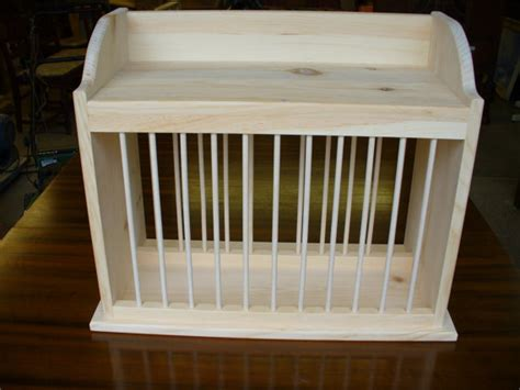 cozy kitchen cottage wood counter plate dish rack stand shelf