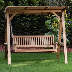 Veranda, Swinging, Bench, With, Canopy