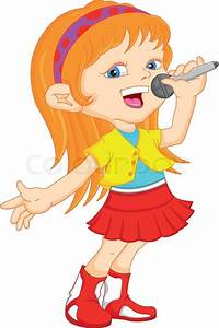 Young Girl Singing Stock Vector Colourbox