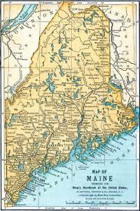 Maine Physical Features Map