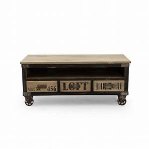Meuble Industriel But : meuble tv industriel new york 3 tiroirs ~ Teatrodelosmanantiales.com Idées de Décoration