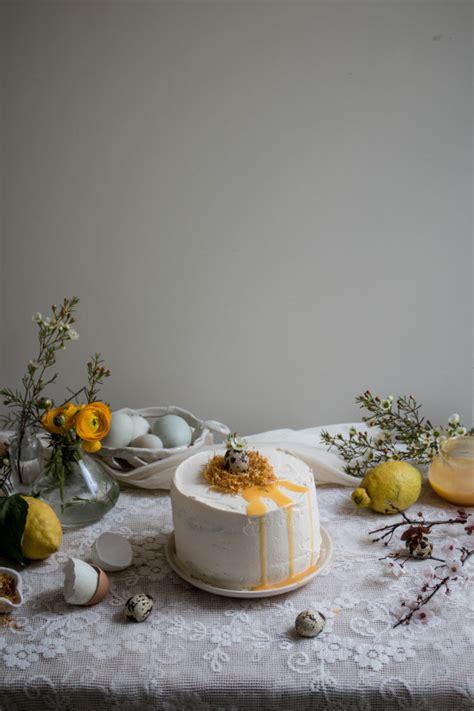 lemon poppy seed cake  honey black tea frosting