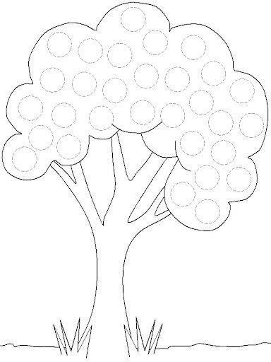 printable tree trace worksheet  tracing