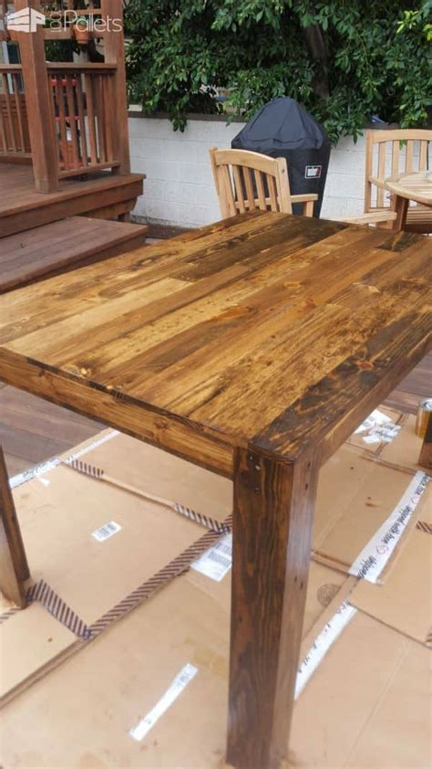 pallet dining table  diy project  pallets