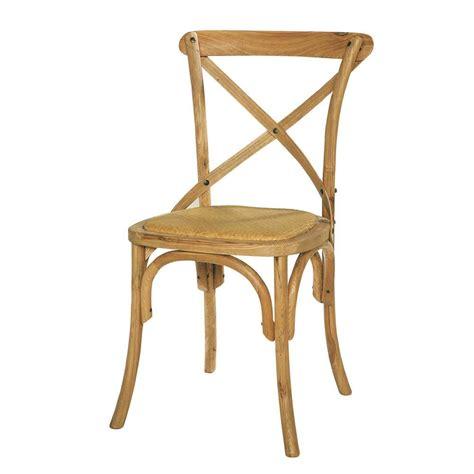 chaise bistrot en rotin et ch 234 ne massif tradition maisons du monde