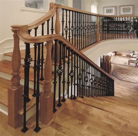 wood banisters custom iron stair balusters traditional staircase