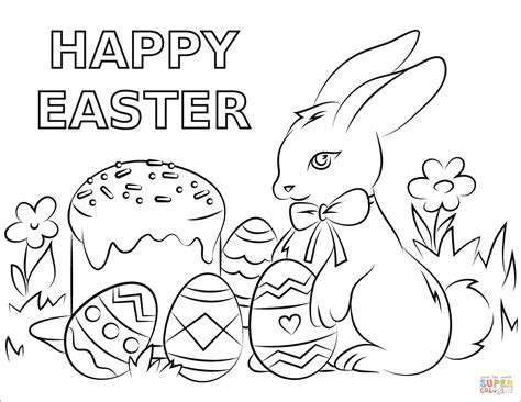 free easter coloring pages to print happy easter coloring page free printable coloring pages