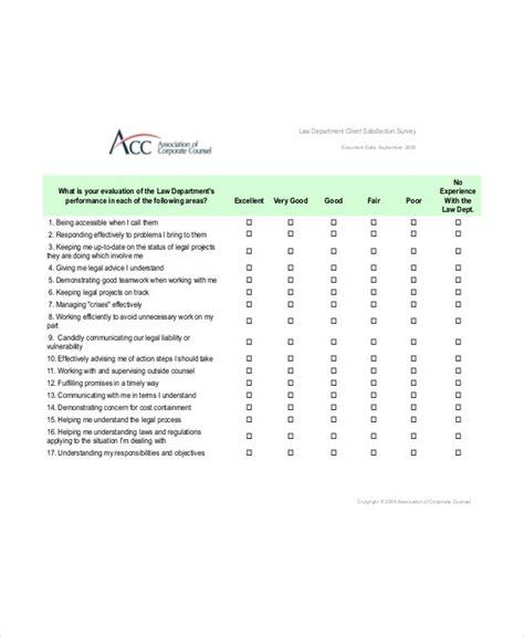 client satisfaction survey template   word