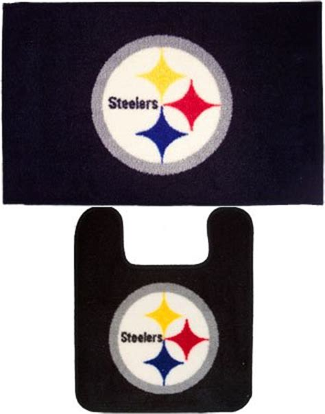 pittsburgh steelers 2pc bathroom mats rug collection new