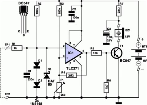 How Build Components Voltage Tester Circuit Schematic