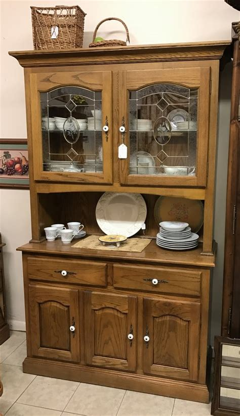 oak china cabinets for leaded glass oak china cabinet