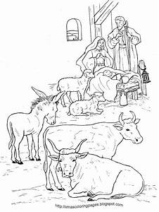 Nativity Coloring Pages Realistic Page Dinokids Org