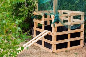 Komposter Holz Selber Bauen : kompost anlegen f r unsere h hner komposter aus holz bauen lillel tt ~ Frokenaadalensverden.com Haus und Dekorationen