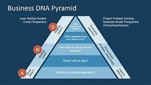 Flat Pyramid Of Business Dna Framework