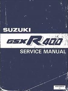 Suzuki Gsx R400 1987 Owner U0026 39 S Manual