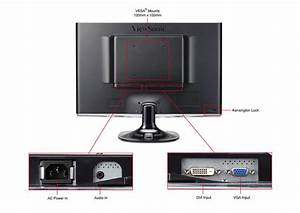 Dual Viewsonic Vx2250wm 22 U0026quot  Led Monitors  U0026 Trendnetusb 3 0