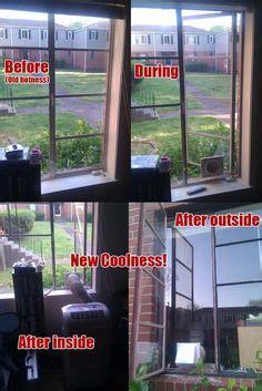 installing  portable air conditioner   casementcrank window diy window air conditioner
