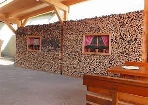 Gartentore Aus Holz Bilder : kaminholzwand stapelwand aus holzscheiten ~ Michelbontemps.com Haus und Dekorationen