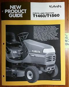 Kubota T1460 T1560 Lawn Tractor New Product Guide Brochure