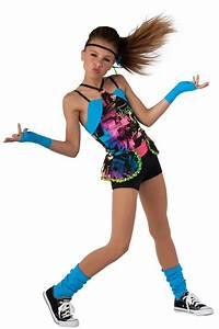 15356 Whatu2019s Up | Hip Hop Funk Dance Costumes | Dansco 2015 | Photo printed tie-dye and black ...