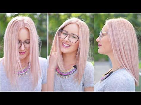 rosa haare selber färben pastell rosa haare selbst f 228 rben tutorial viktoriasarina hair rosa haare